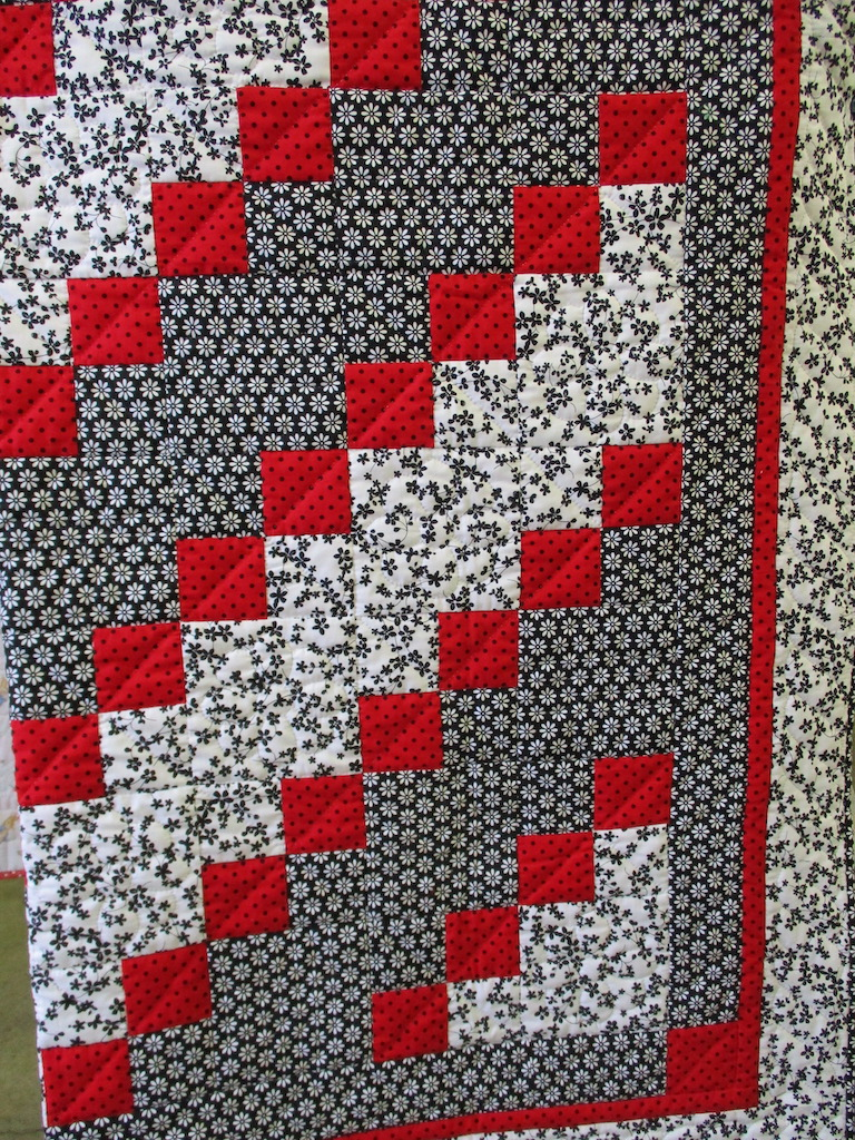 308, MYSTERY QUILT (signed and dated), 65x76, Pieced by Susie DeVos, Quilted by Nancy Cordell