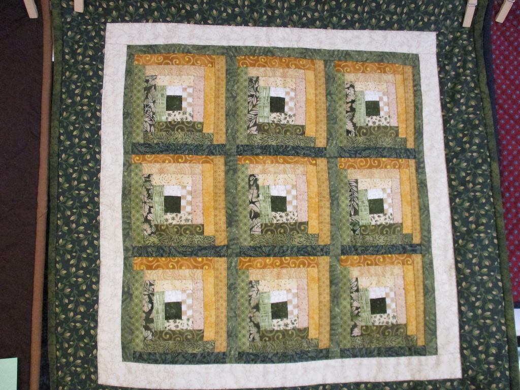 321, LOG CABIN (signed and dated), 21x21, Pieced and Quilted by A friend of Cumberland Valley Relief Center