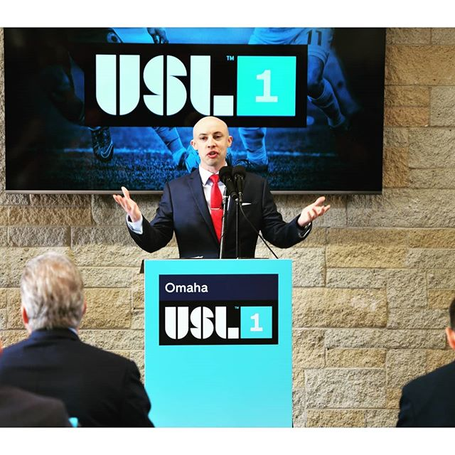 It was an honor to MC a press conference today, announcing the arrival of a new professional USL soccer franchise in Omaha for 2020. The energy and excitement in the room was amazing. #usl #soccer #omaha #thebeautifulgame
