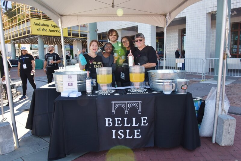 Belle Isle Full Booth With volunteers Posing.jpg