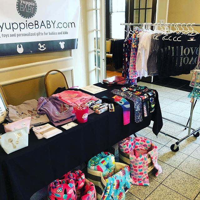 We're all set up for the wonderful @lollyslocks Valentine's Day Bazaar! Come visit us at the Rock Creek Mansion, until 4pm! #yuppieBABY