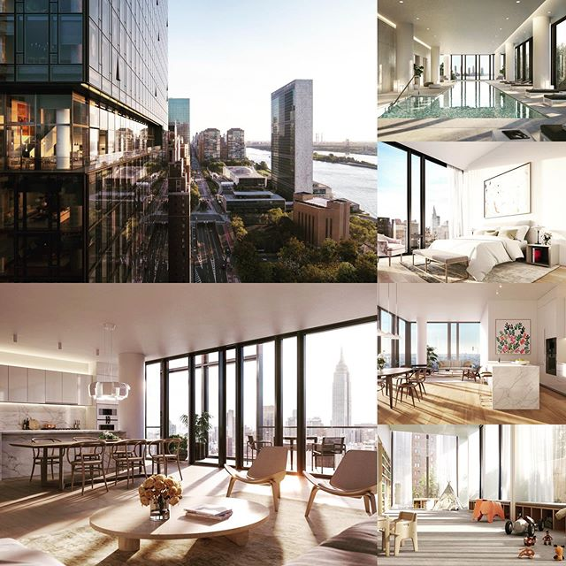 🔑#𝐏𝐫𝐨𝐩𝐞𝐫𝐭𝐲#𝐆𝐨𝐥𝐝𝐊𝐞𝐲 𝐨𝐟 𝐓𝐡𝐞 𝐃𝐚𝐲🔑 • • • 43 story #condo#residential tower located south of 🚩#unheadquarters#eastriver#midtown 🔭breathtaking#architecture#interiordesign#view#nyc#manhattan 🏊♂️🏊🏻♀️indoor pool, fitness, lounges, screening room🎬#health#wellness