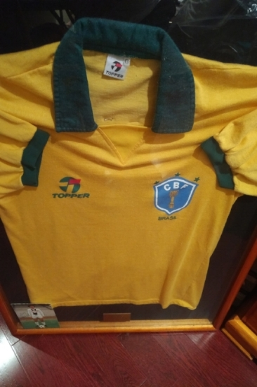 Original jersey of Brazilian Captain Edinho when he played for Toronto Blizzard in Canadian Soccer League