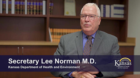 Dr. Lee Norman, Secretary of the Kansas Department of Health and Environment (KDHE).