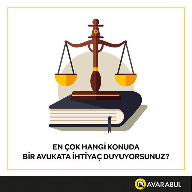 En çok hangi konuda avukata ihtiyaç duyuyorsun? İlgi alanlarına göre filtreleme özelliği ile #avarabul uygulamasında kolayca avukat bulabilir ve iletişime geçebilirsin!  www.avarabul.com  #avukat #aradiginavukatibul #avukatadanis #hak #hukuk #mahkeme #iletisim #mobiluygulama #ücretsizindir