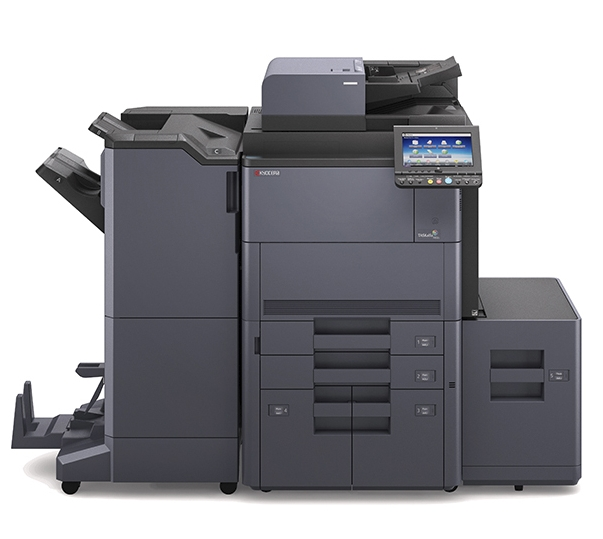 A color multifunctional printer with a white background