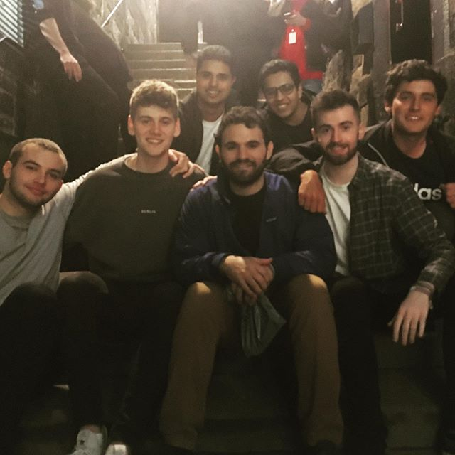 "Tonight my show was attended by the entire boys basketball team I coached 5 years ago!  Tonight is considered ""black Wednesday"" at the #EdFringe because of low attendance but I had a packed Wednesday night show in part because of these boys!  We weren't great at basketball, but 5 years later they showed up!  #makeyourfringe  #edfringe"