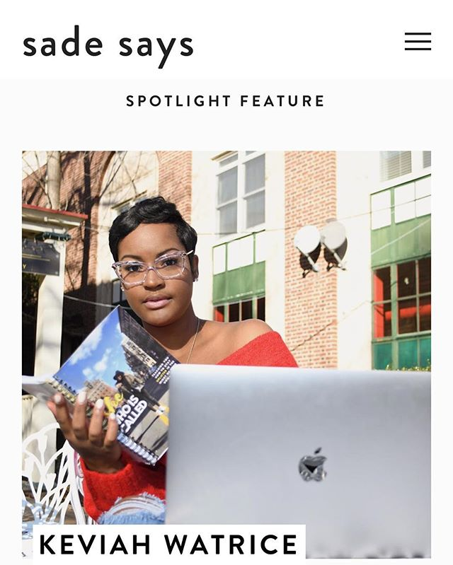 Check out my very first Spotlight Feature with the lovely @keviahwatrice 🙌🏽 Link in bio!