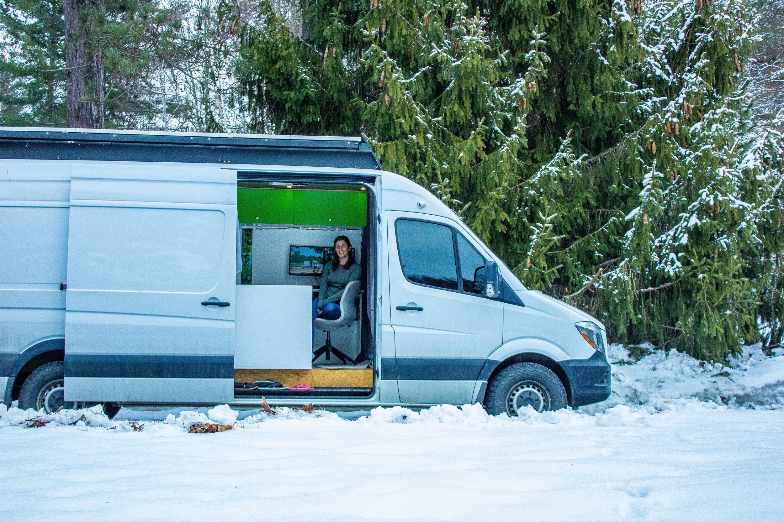 Staying Comfortable All Winter in a Van
