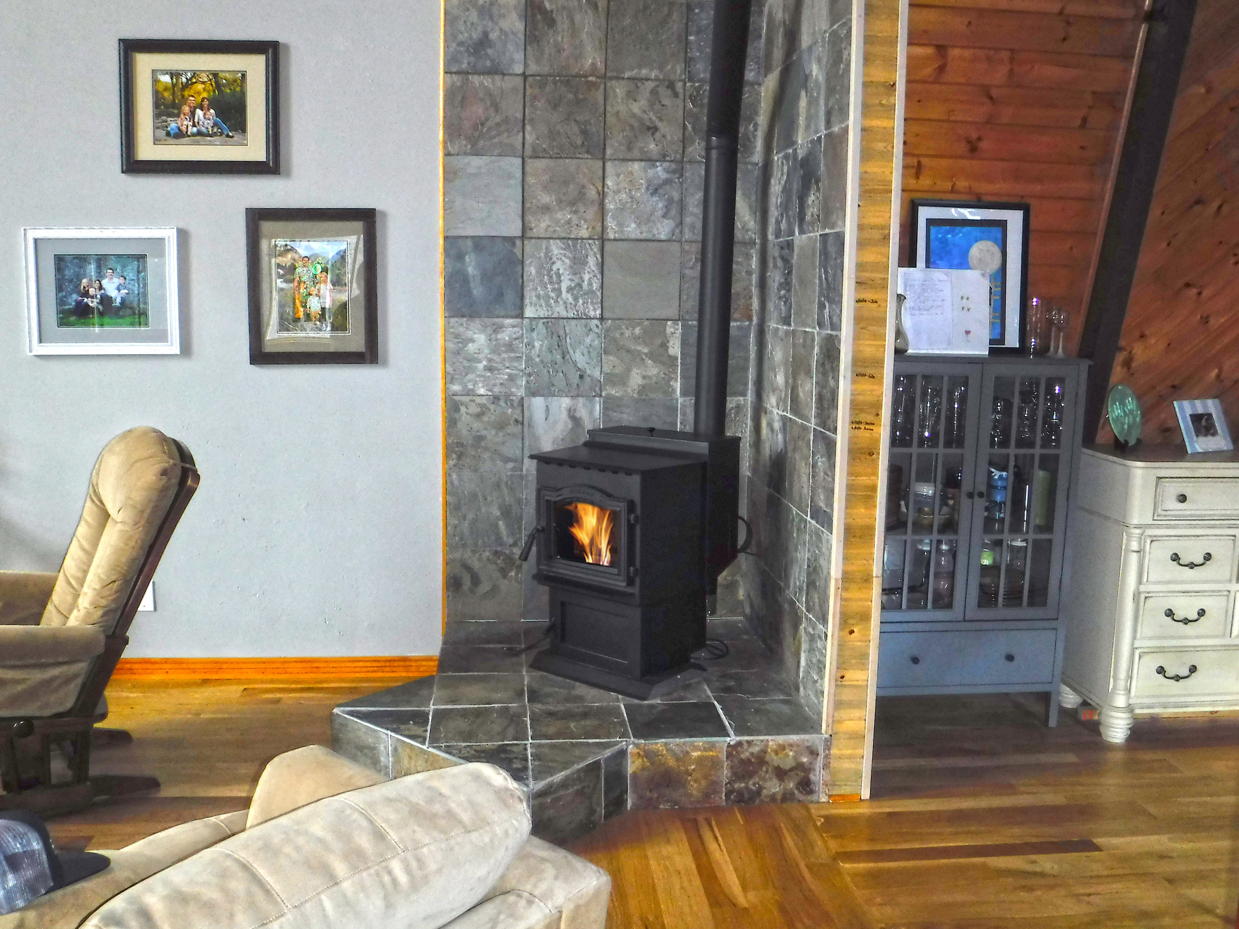Harman P43 Pellet Stove installed in Evergreen, CO