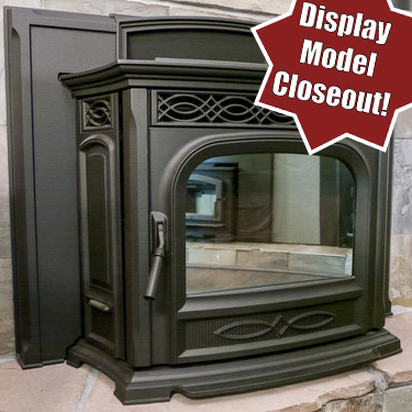 Harman Accentra 52i - ‧ Cast Iron Pellet Insert - 52,000 BTU‧ 64lb Hopper‧ Automatic Temperature Control‧ Standard Surround‧ Cast iron body‧ EASY Touch Screen Digital Control Panel‧ Flame-reactive mirrored glass‧ Sealed hopper ‧ Large ash pan‧ Optional Outside air kit‧ Ultra Quiet Whisper Mode‧ Black or Brown finish‧ Optional ZC Housing Kit