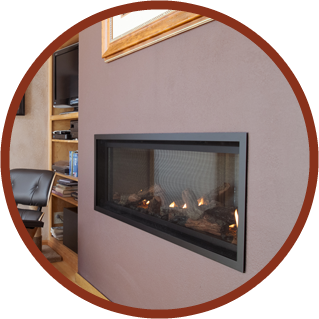 Mountain Hearth & Patio Installed This Mendota ML47 Direct Vent Linear Gas Fireplace