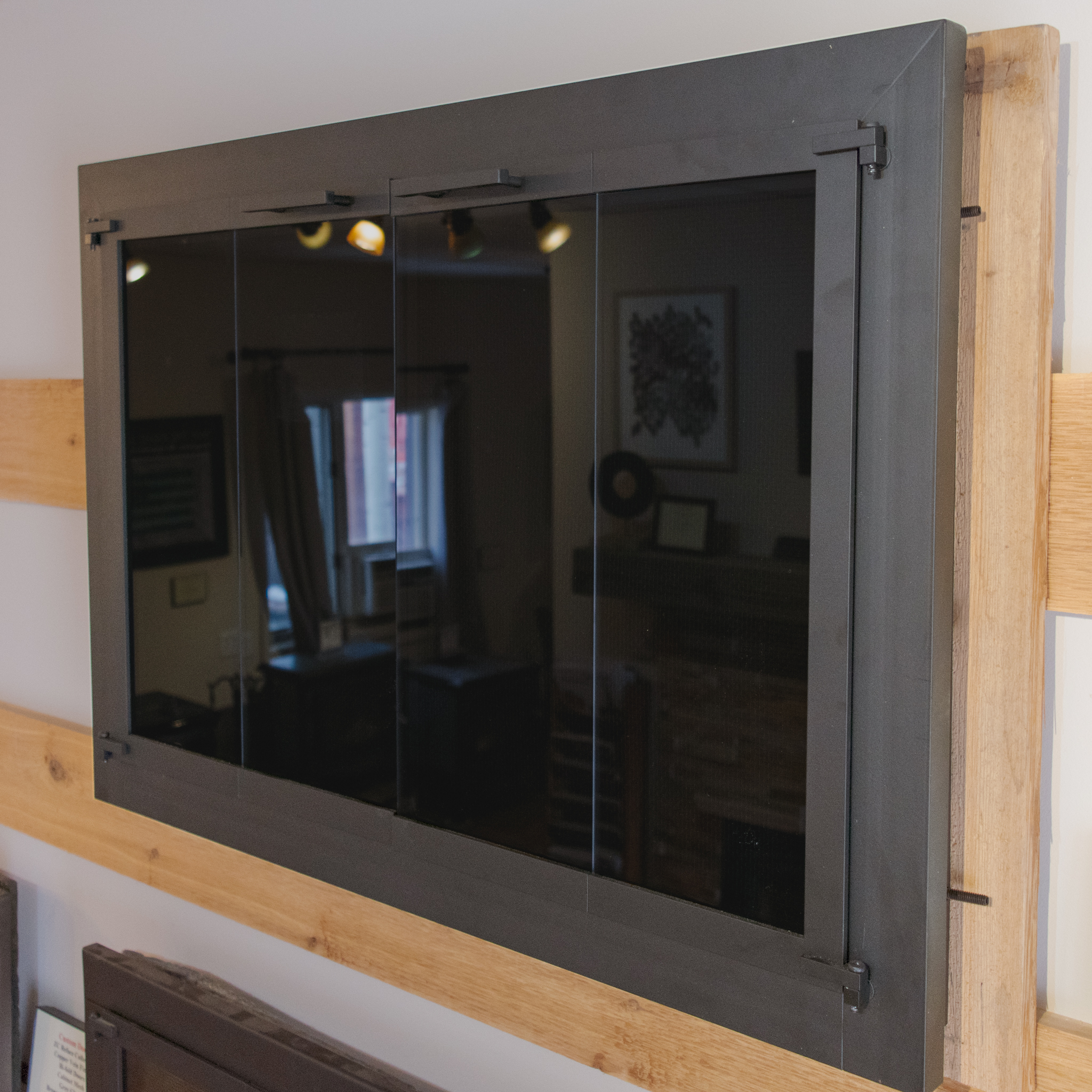 Stoll Kingston Series Doors - · Custom sized and fabricated· Matte black finish· Grey glass