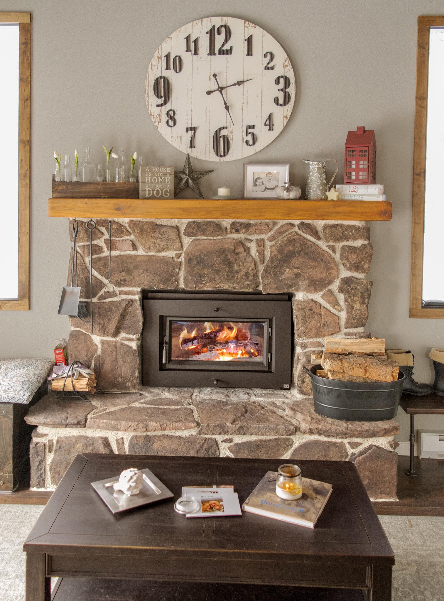 FireplaceX Flush Wood Plus