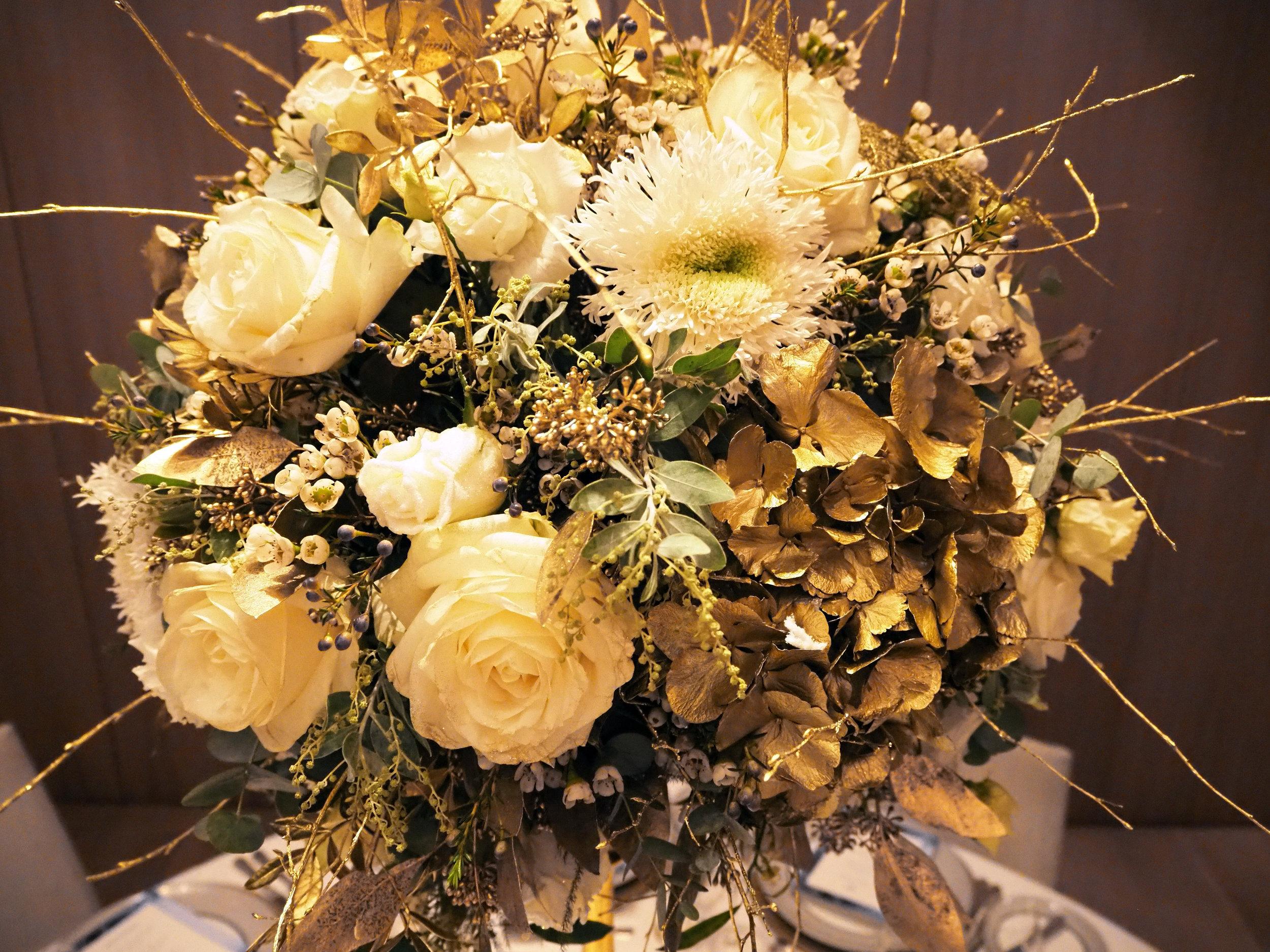 Gold Floral Centrepiece