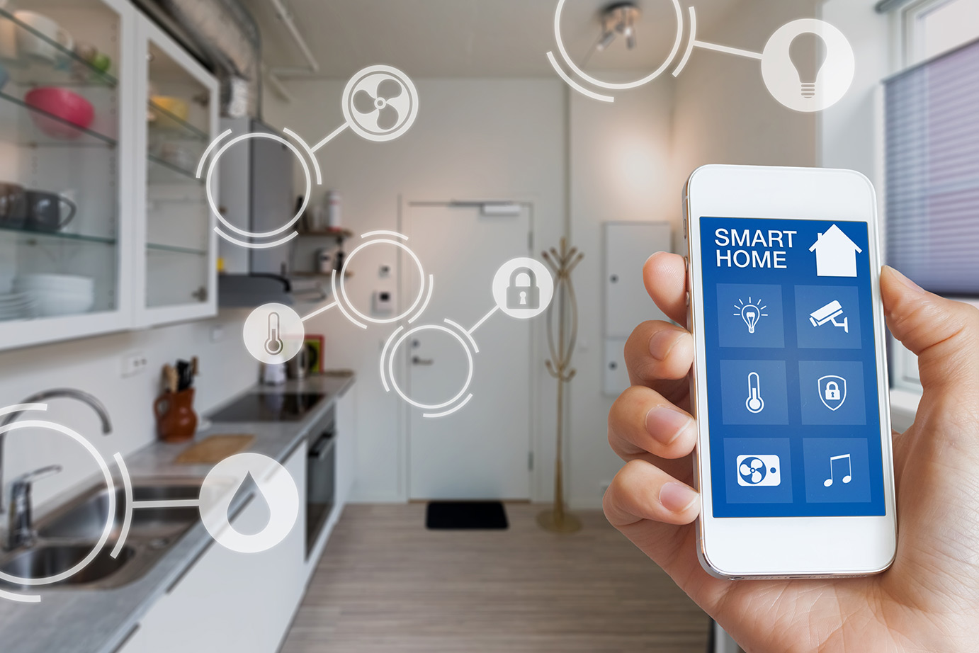 Smart phone in home, IoT