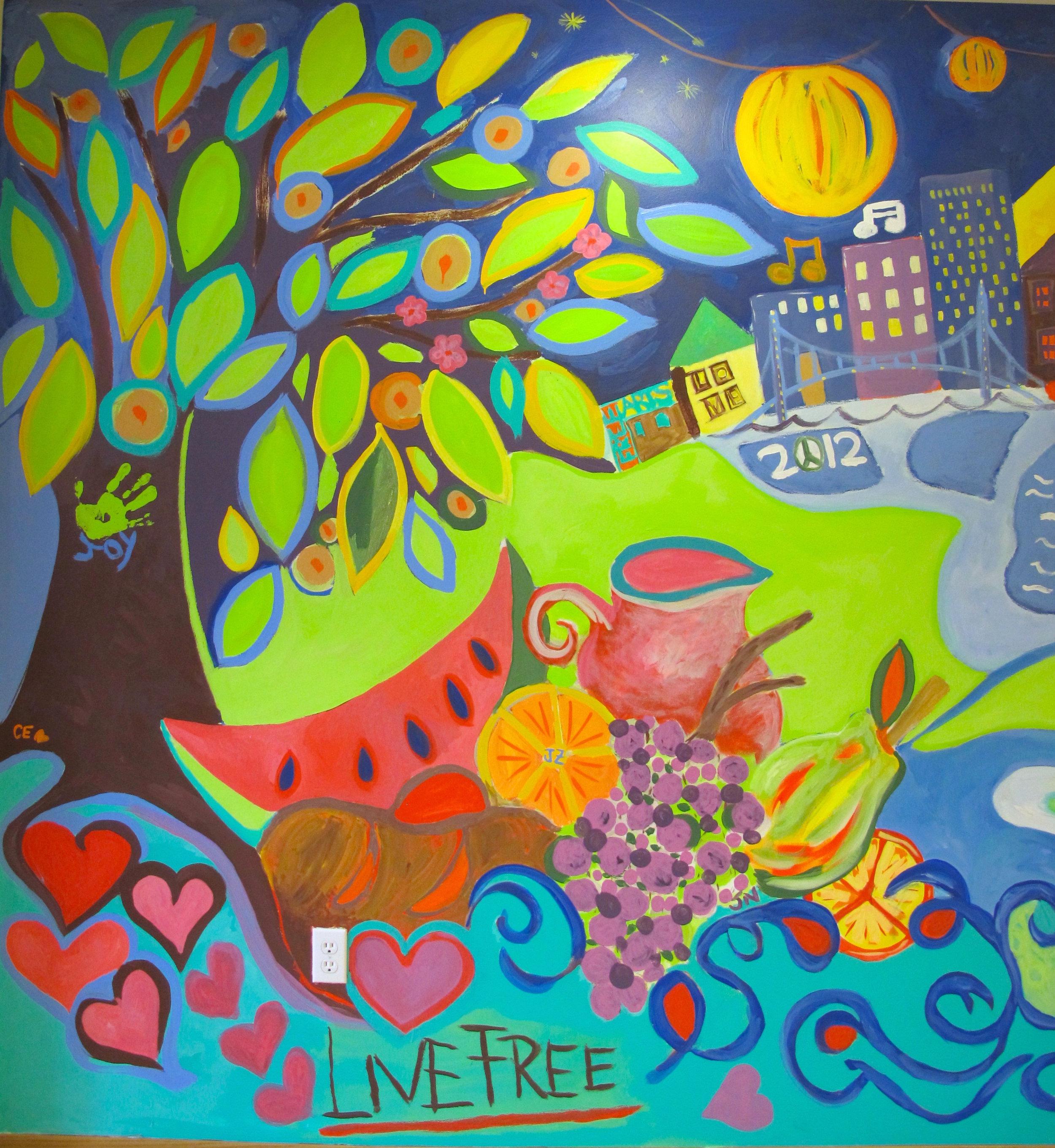 the bridge mural II -
