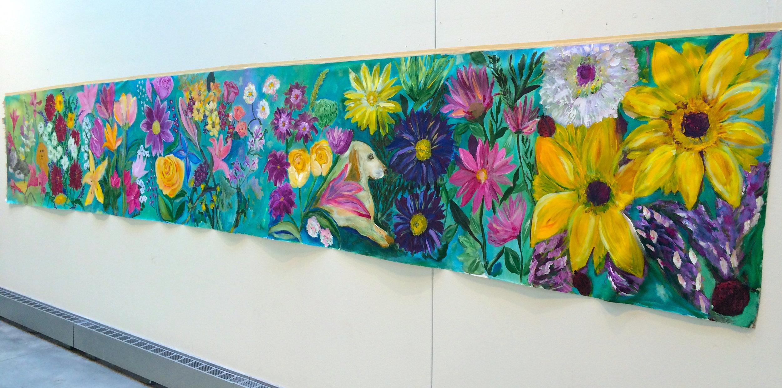 mCFTA flower mural II -