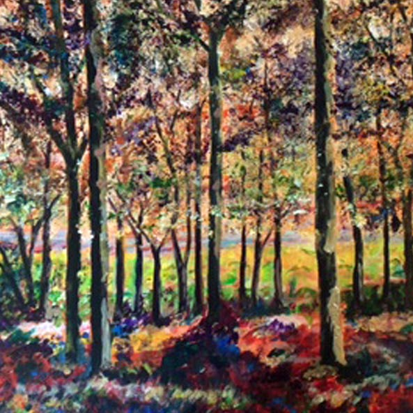 Forest of Dreams - SOLD.  Acrylic -  Card Available on Esty