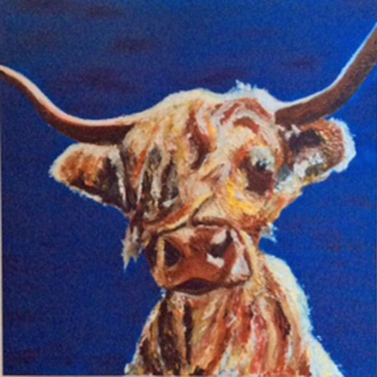 Highland Harry - SOLD. Acrylic -  Card Available on Esty
