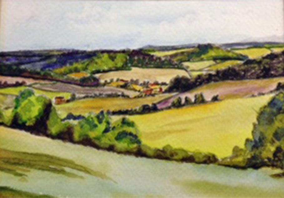 Bucks - Commission.  Watercolour