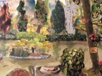 Lake - £120.  Watercolour Montage (Framed) - 49cm x 39cm