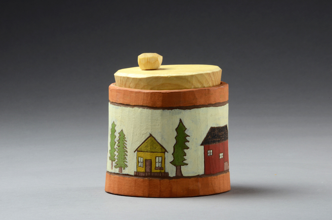 North House Folk School Shrinkbox, Birch, 2013.