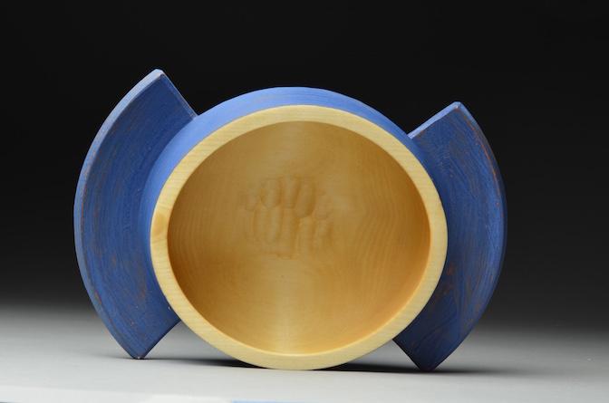 Handled birch bowl, 2015.