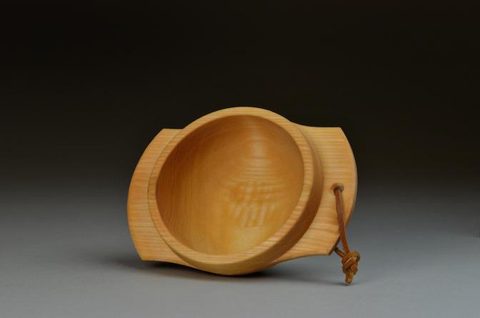 Handled birch bowl, 2016.