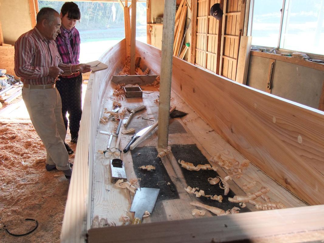 Workshop Visit with Traditional Boatbuilder, Tohoku, Japan. 2012.