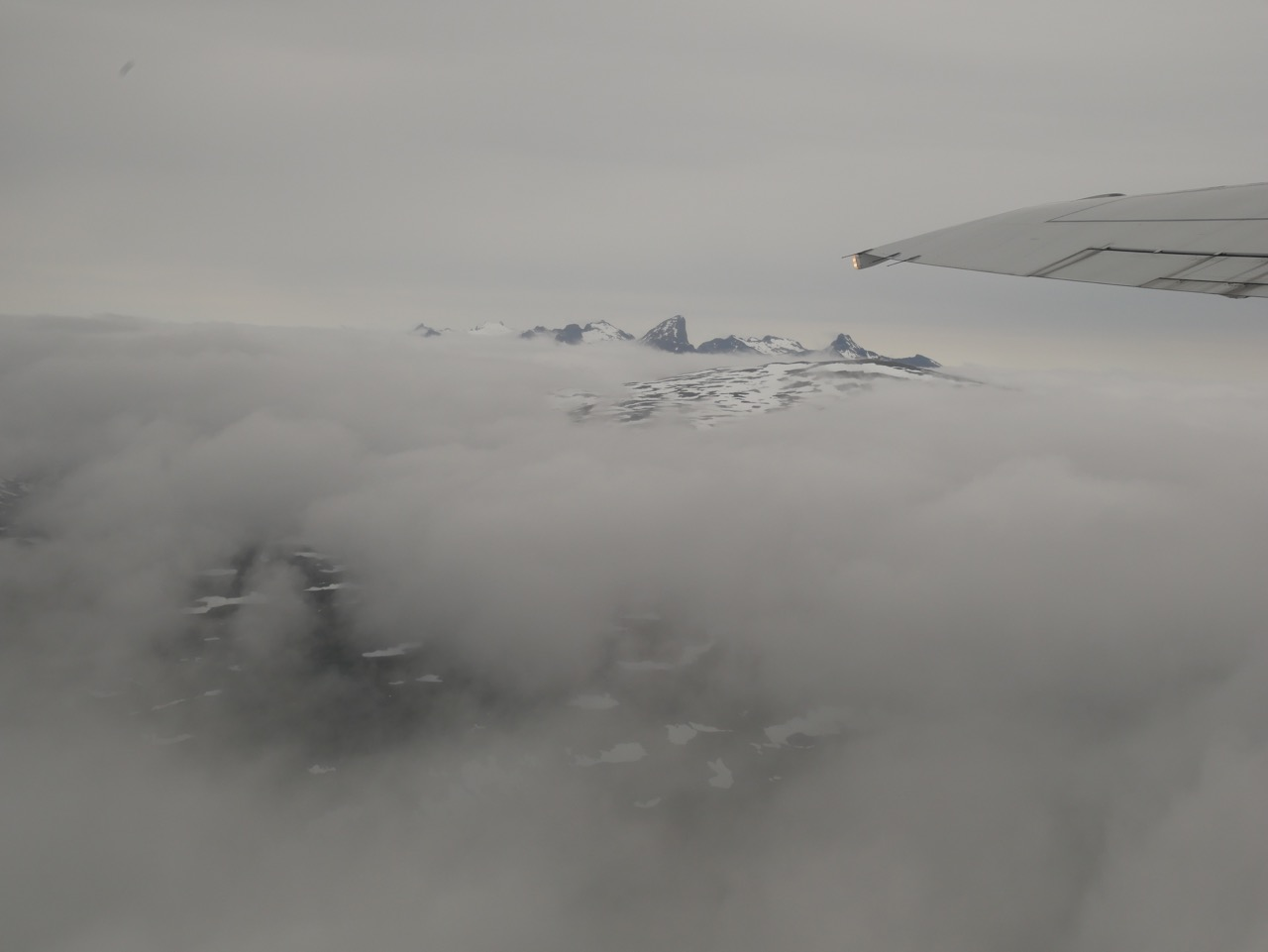 The view from the plane as I flew out of Tromsø on June 22.