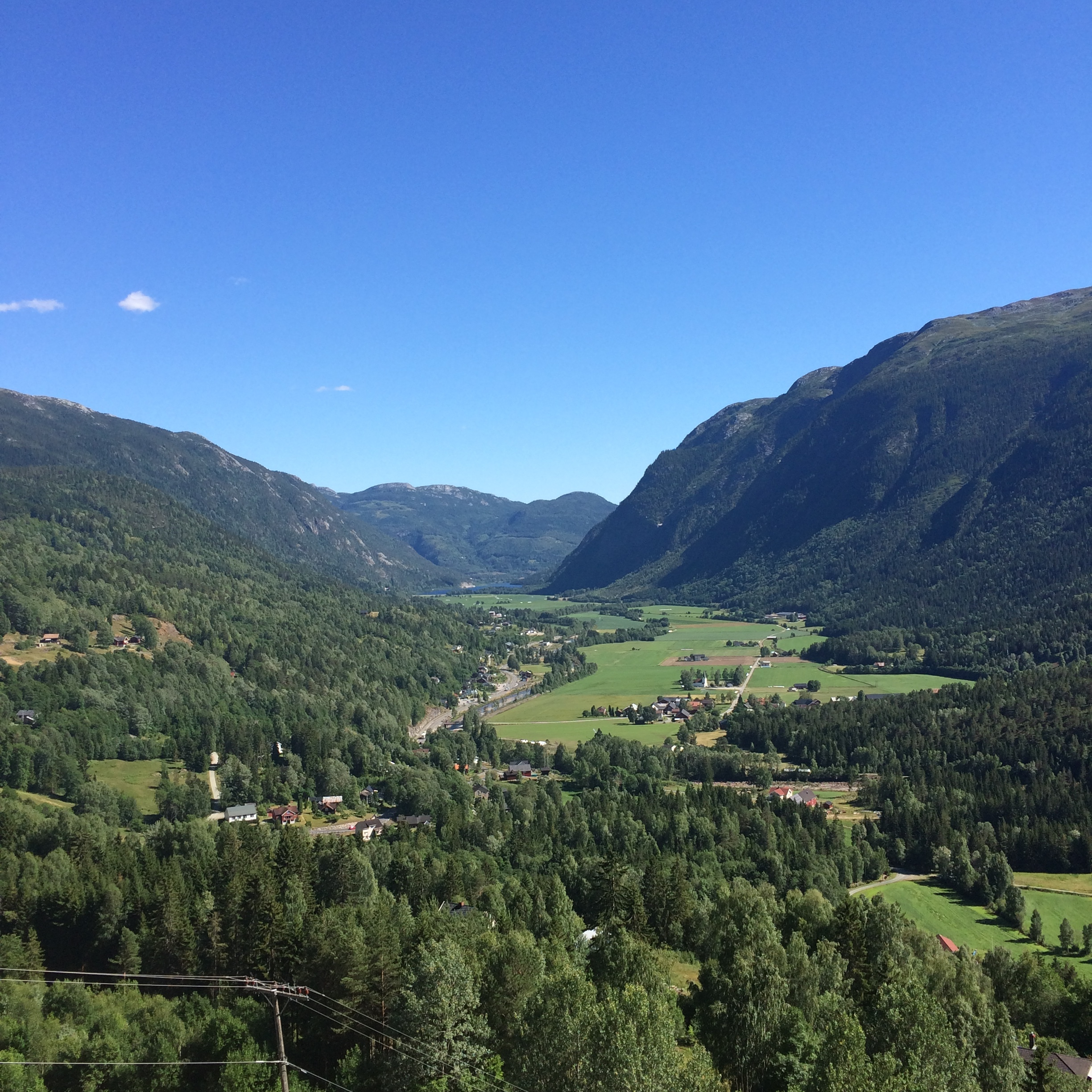 View from the drive through Telemark.