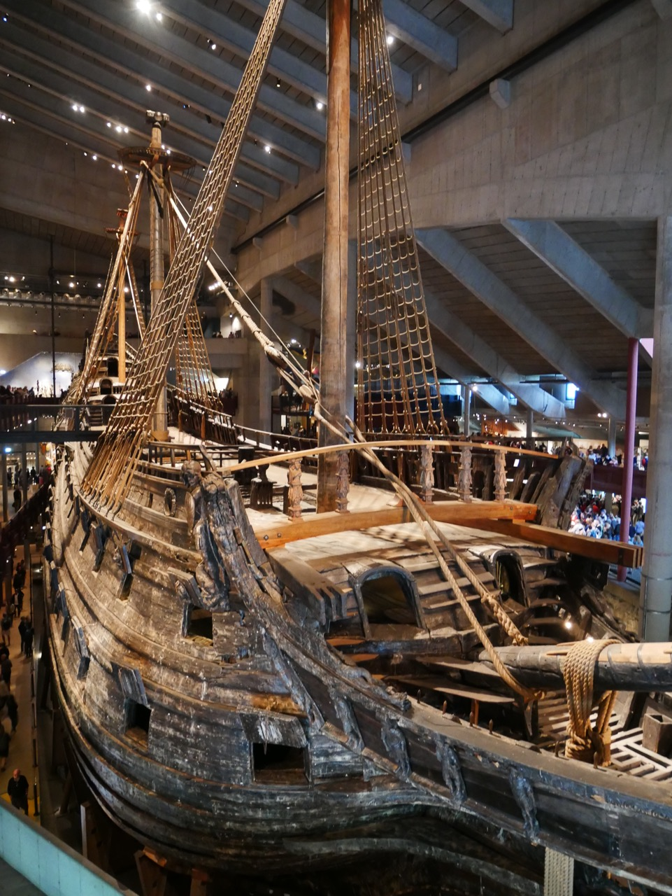 The bow of Vasa. It felt impossible to take a single photo of the entire ship.