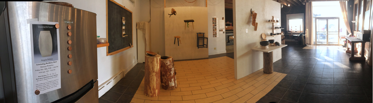 Panorama of the gallery space.