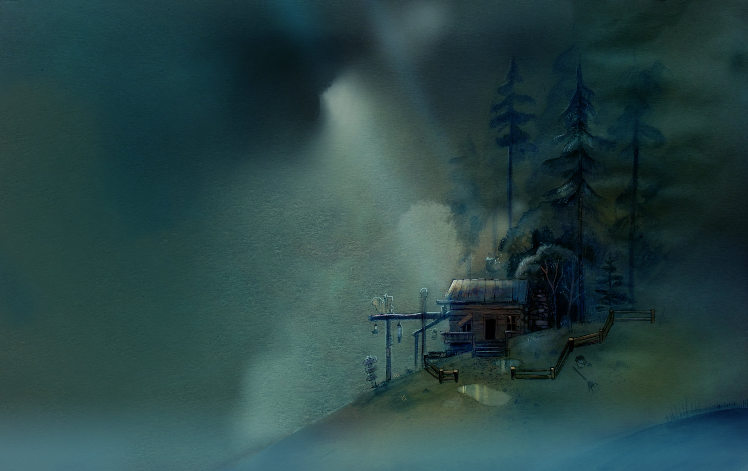 "Environment Concept ""Oxenfree"""