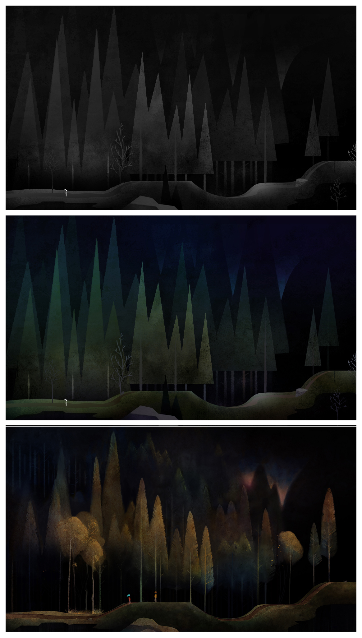 "Visual Target Process ""Oxenfree"""