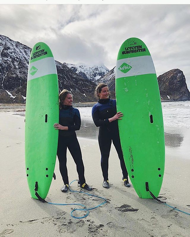 Learn to surf in one of the most exotic places in the world 🏔  #lofotenislands