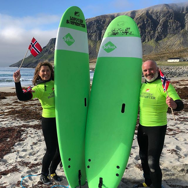 What did you do on the 17th of May? Some people spent their time on the beach and in the water surfing! And what a good day it was! 🇳🇴