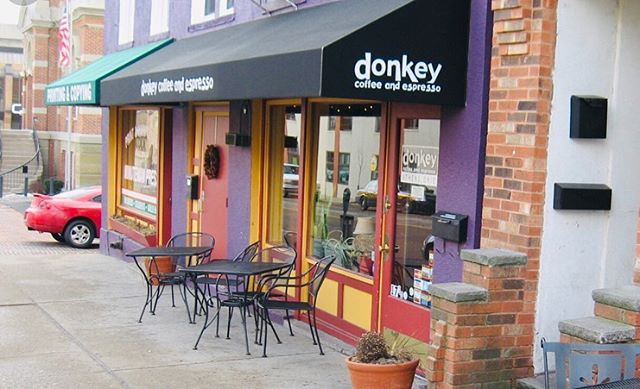 "Hi y'all! Today we are introducing you to one of Cole's favorite businesses in the region, Donkey Coffee☕️ - ""Donkey is the quintessential college coffee shop and a local legend among small businesses. They offer great coffee and cafe options and a chill, laid back atmosphere that is perfect for studying, hanging out with friends, and relaxing with a good book. It's hard to not stay for a few hours once you step foot in this place! It is a perfect representation of the Athens community and a huge supporter of the university community, right in the heart of town."" - Located in Athens, Ohio"