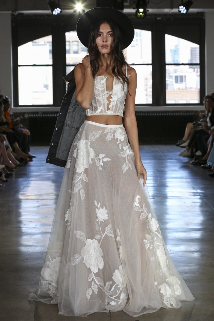 """Willowby by Watters """"Layla Top"""" and """"Rai Skirt"""" from Fall 19 Bridal"""