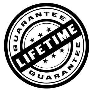Lifetime Guarantee!  We guarantee that our coatings will never chip, crack, peel or flake! If they do you can send the items back to us and we will coat them again for no additional charge.