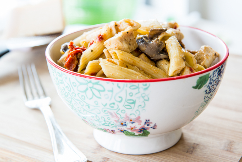 PHOTO BY PIONEER WOMAN  We're big pasta fans, and Pioneer woman spices up a weeknight favorite with sundried tomatoes. Time to start carb loading. :).
