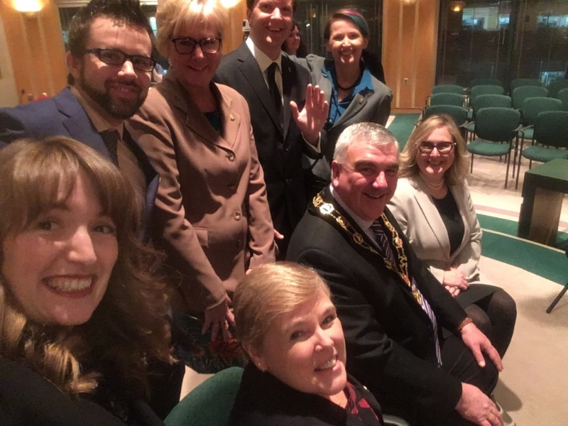New council selfie taken inauguration night.