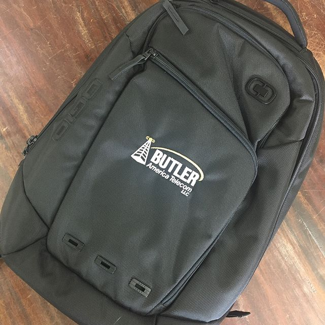 Just finished these backpacks for our friends at Butler Telecom!