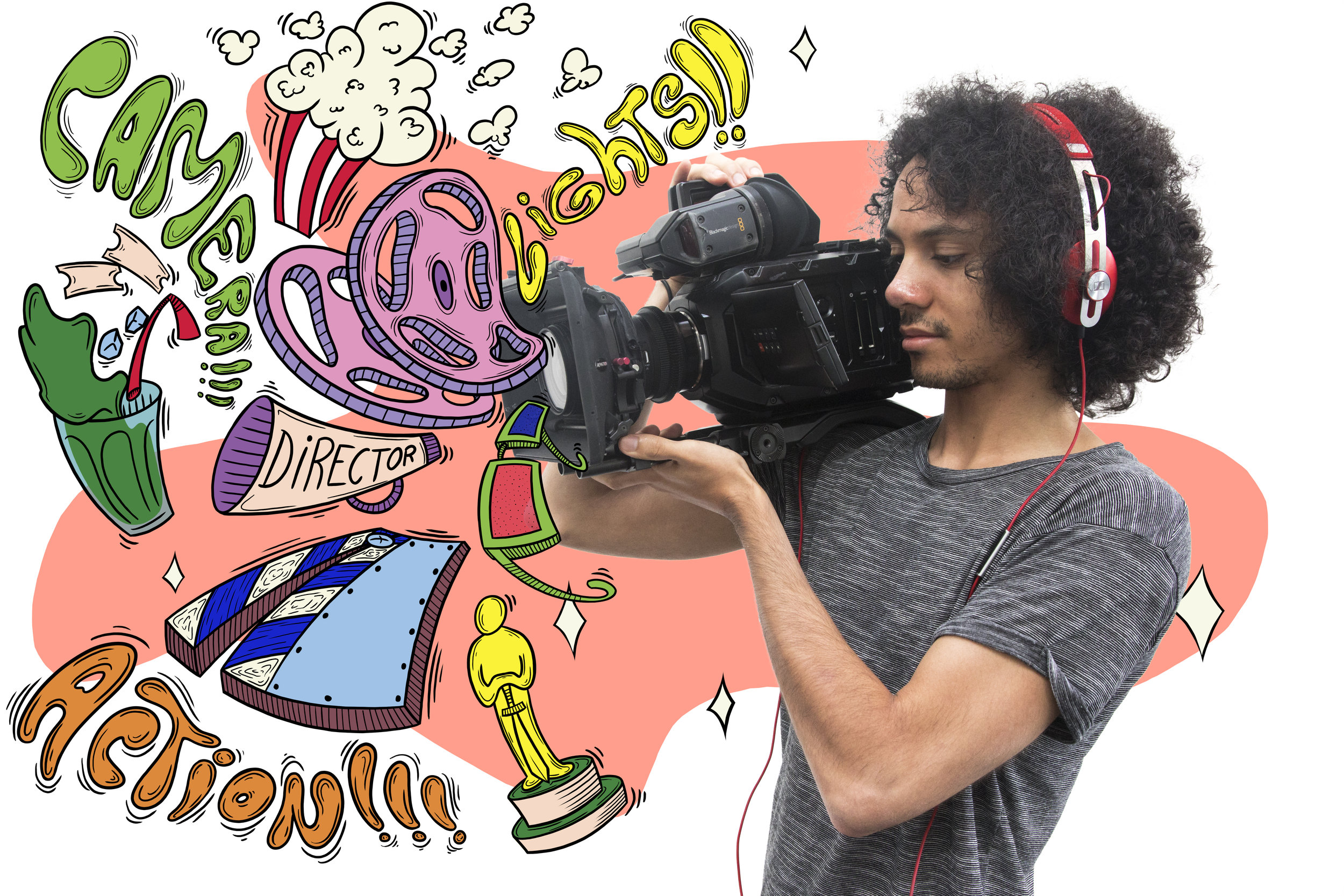 Conrad and his camera showcase our talented film making students