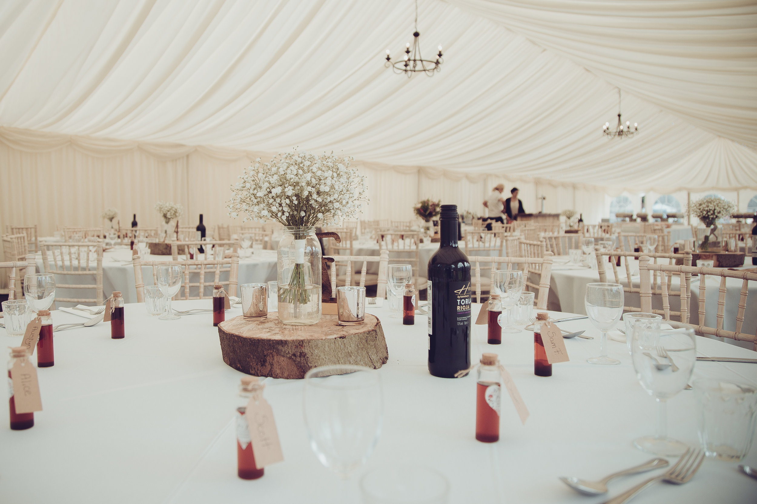 This beautiful marquee was covering the dining and dance-floor areas. Elegant, isn't it?