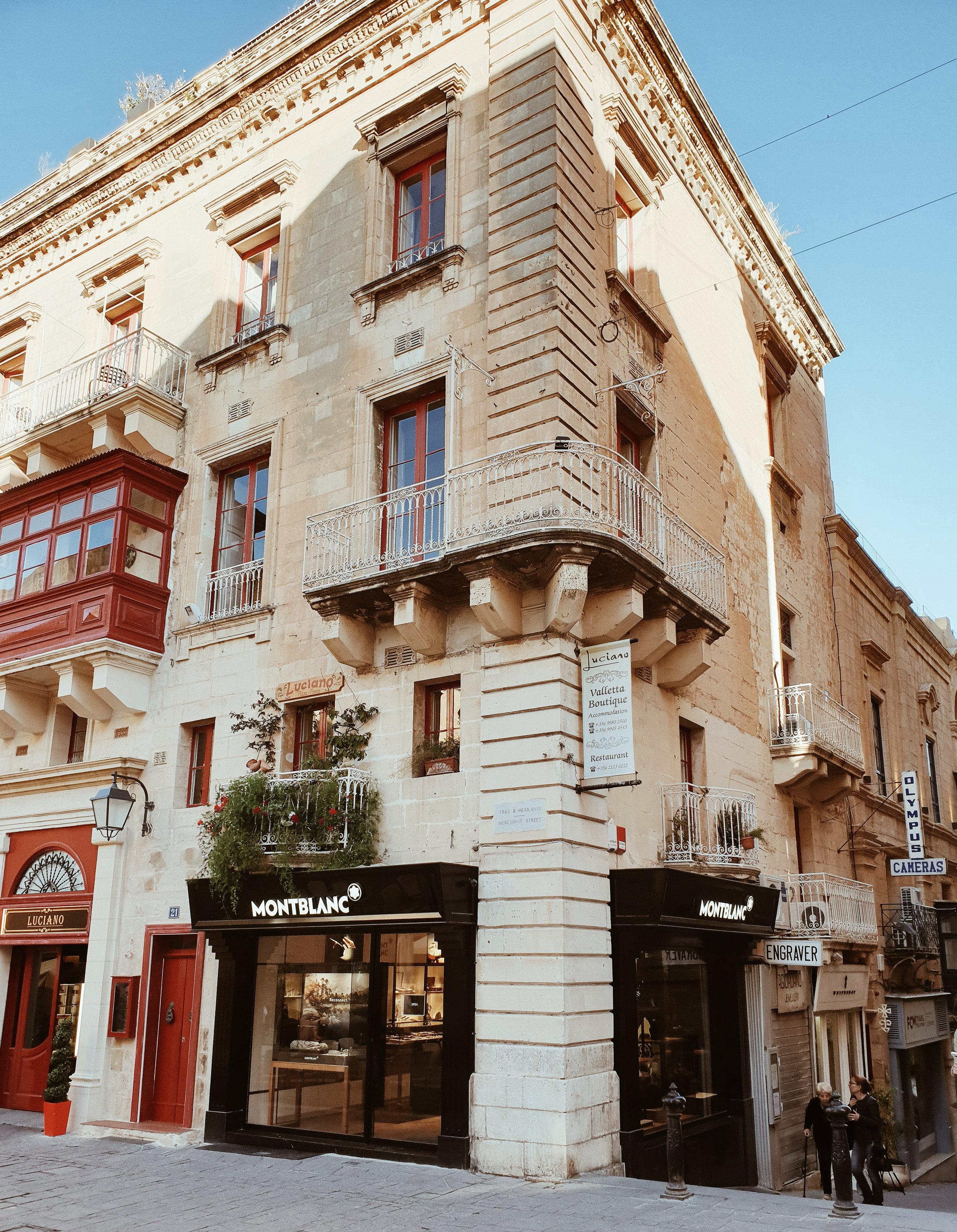 A street view in Valletta, Malta