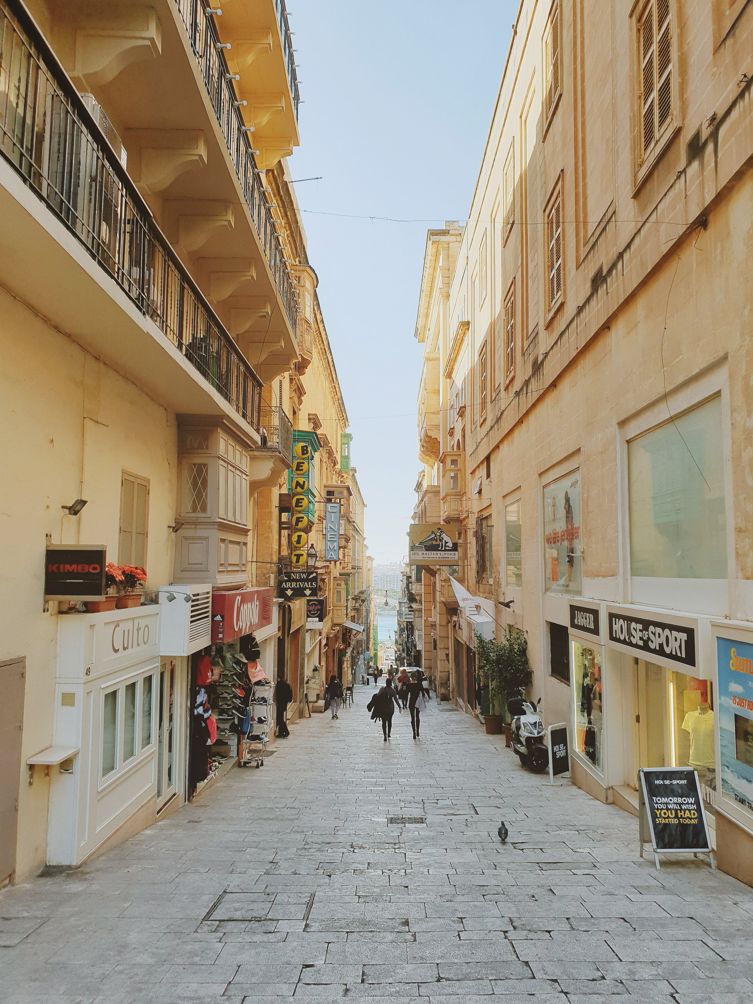 A different street in Valletta, Malta