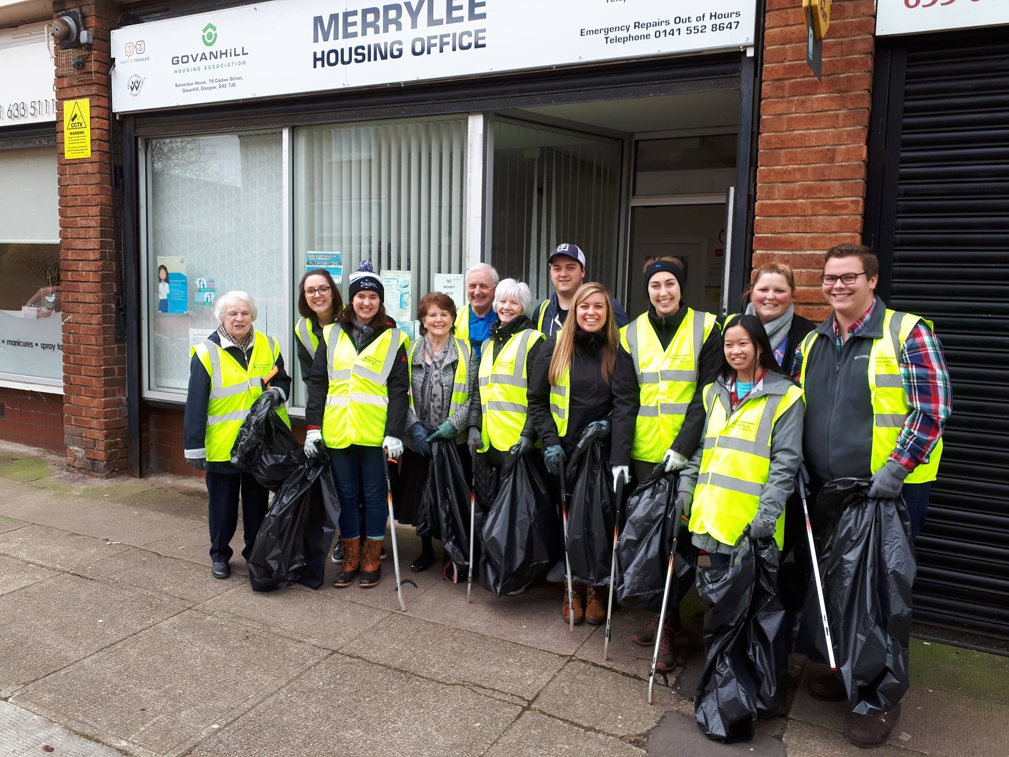 Our community clean-up crew in Glasgow, Scotland