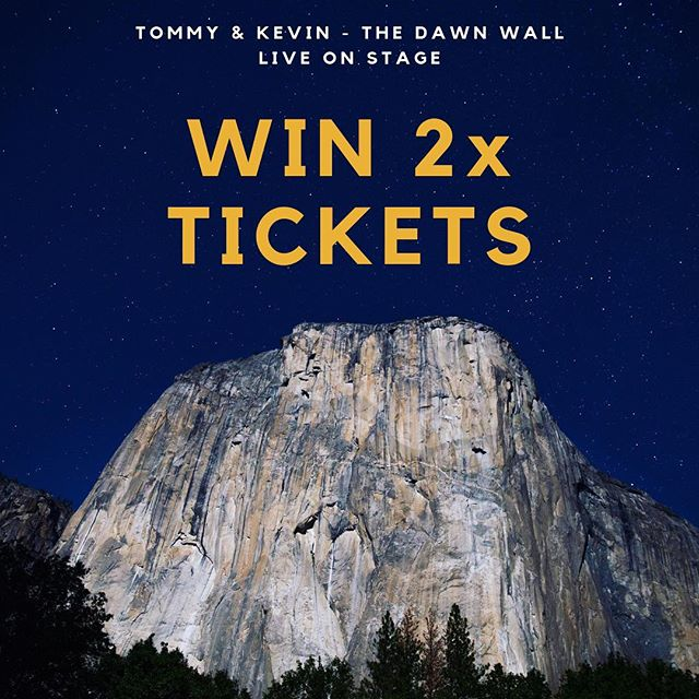 At Twin Climbs we're all about sharing nature's climbs.  So we're giving away two tickets to see Tommy Caldwell and Kevin Jorgenson live on stage in Sydney! Get up close and personal as they share their stories of conquering one of the world's hardest climbs, THE DAWN WALL. Read full event details below.  How to enter: 1. Follow Twin Climbs on Instagram 2. Tag your climbing buddies in the comments below to enter the draw 3. Double your chances by entering the competition on our Facebook Page  The draw: The winner will be randomly drawn from the list of comments Wednesday 9:00am AEST, 1st of May and announced within 24 hours. This giveaway isn't sponsored, endorsed or administered by, or associated with, Instagram or the event organisers.  Show date: Friday the 26th of July from 7:00pm at the State Theatre. 49 Market Street, Sydney, 2000, NSW